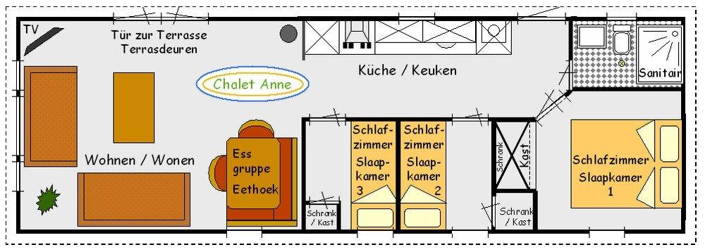 Plattegrond Chalet Anne